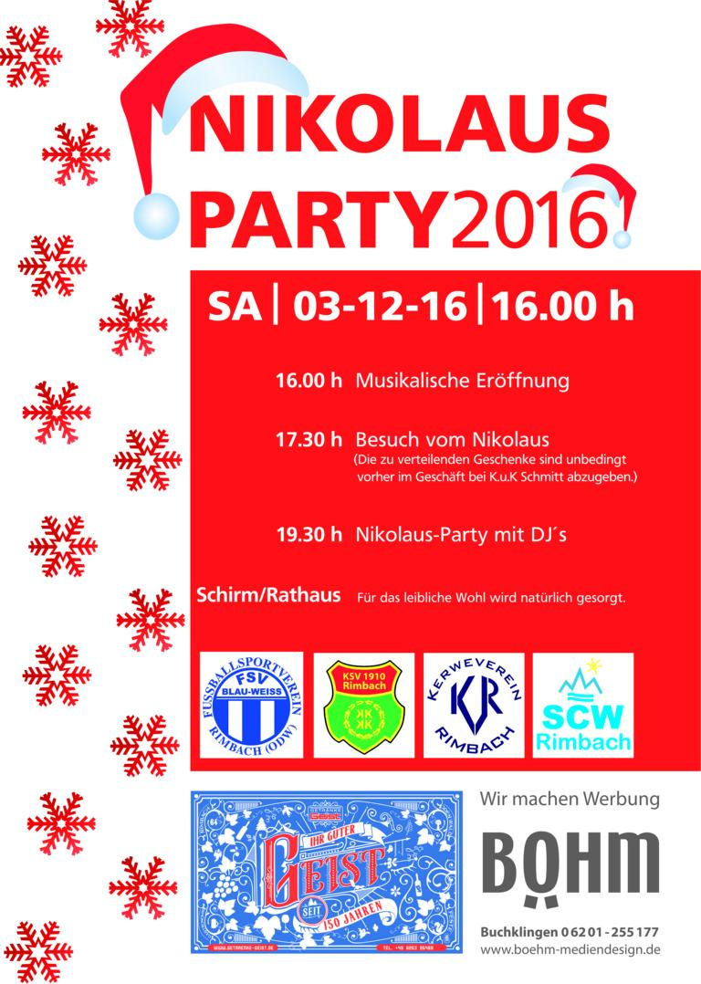 K1024 Flyer Nikolausparty 2016